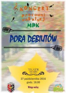 Plakat koncert 161027